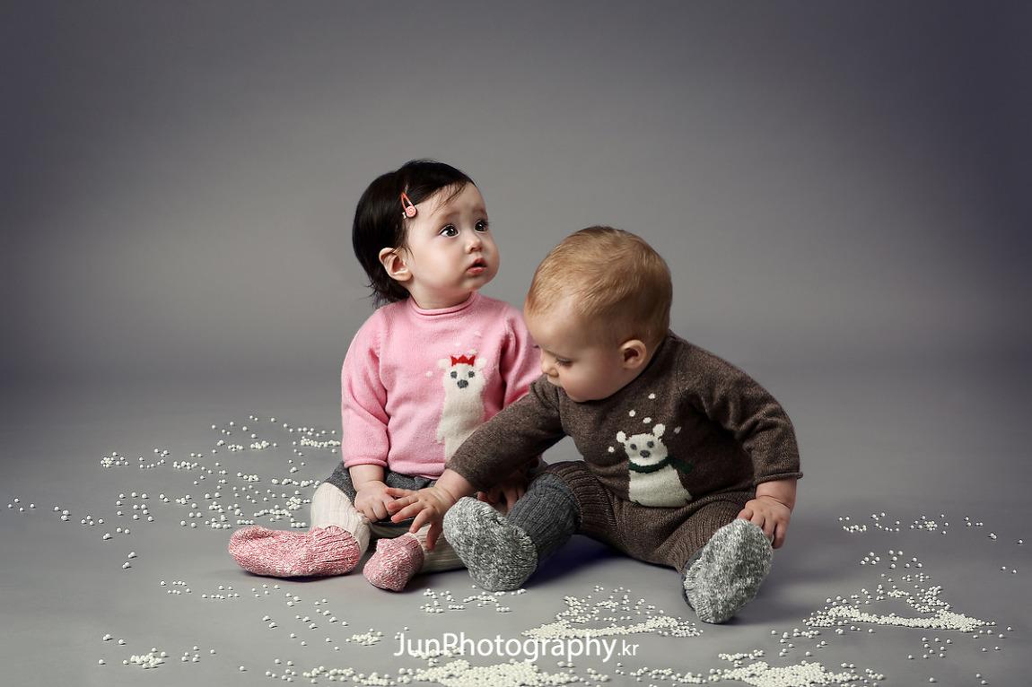 프랑스 유아동복 브랜드 유아모델 카달로그촬영