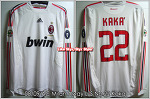 08/09 AC Milan Away L/S No.22 Kaka Player Issue