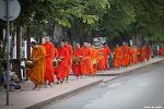 [라오스 루앙프라방 여행] 경건한 불교의식, 탁발 행렬