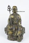 M-498. 황동 금채 부처님 -지장보살님- (높이 약 27cm, 무게 약 3.01kg)