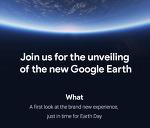 구글 새 구글 어스 공개 프레스 초대장 배포