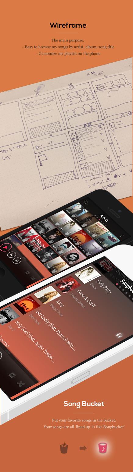송버킷(SONG BUCKET), 아이폰의 새로운 음악 플레이어