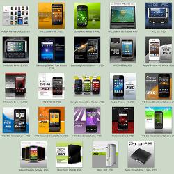 스마트폰 GUI PSD를 무료로 다운받는 사이트