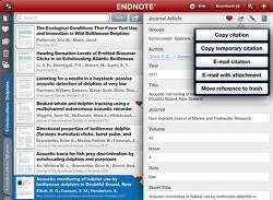 Endnote for iPad 앱 출시 안내