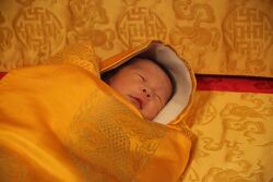 부탄 왕국 국왕이 직접 촬영한 생후 2주된 왕자 얼굴 공개