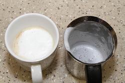 우유 거품기 카페드아모르 이중망 스텐거품기 200ml