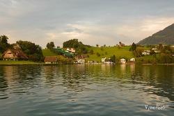 루체른 호수의 해넘이 - 스위스 루체른여행 베기스(Weggis)