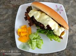 불고기 샌드위치 만들기~ 남은 불고기 활용하기 좋아요!