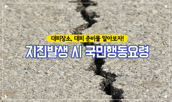 지진발생 시 국민행동요령, 우리동네 대피장소, 위치, 지진 대피 준비물 알아보자!