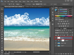[포토샵 강좌] 구름 브러쉬를 이용해서 사진에 예쁜 구름을 넣자