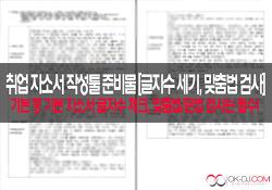 취업 자소서 작성툴 준비물 [글자수 세기, 맞춤법/문법 검사기]