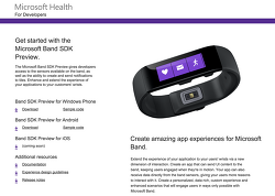 Microsoft Band SDK 공개