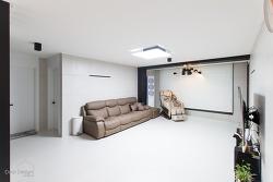 광명 현진에버빌 무광의 포세린타일 32평 아파트 인테리어