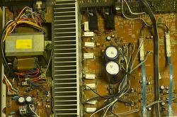 앰프 OP-AMP 및 콘덴서 교체 (인켈 AI-7010G )