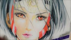 손그림 WLOP 님 그림 모작 (마카, 색연필)