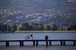 [마케도니아 오흐리드 호수 여행] 자전거가 있는 풍경