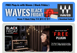 Black Friday Event :  Waves - Free Plugin Event / 블랙 프라이데이 한정 무료