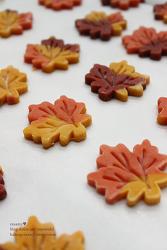 ♥ 단풍잎은 이런 맛입니다. 구수한 고구마가 씹히는 알록달록 단풍잎 쿠키