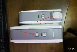 브라더 라벨프린터 PT-1230PC와 PT-2430PC 비교기