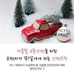 겨울철 운전자가 꼭 알아야 할 교통안전 수칙!