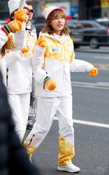 180116 평창 동계올림픽 성화봉송. 우주소녀&AOA