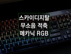 스카이디지탈 체리식 기계식 키보드 무소음 적축, 메카닉 RGB