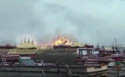 1300년 역사를 자랑하는 티베트 최고의 성지 '조캉사원' 화재