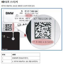 BMW 5GT 델코 AGM 105A 배터리 장착 및 등록...