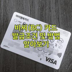 비씨카드(BC카드) 발급/신청 방법 및 조건, 발급조회 알아보기