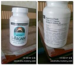 남성 건강에 도움이 되는 Source Naturals L-아르기닌 프리 폼 500 mg
