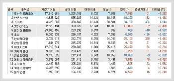 코스피, 코스닥 공매도(공매도량) 순위 (11월 10일)