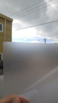 썬팅용 엠보(안개)시트 수축에 강한 시트