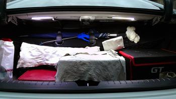 튜닝 - 트렁크 COB LED등 달기