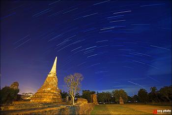 태국 유적 도시 아유타야의 별사진 / Ayutthaya