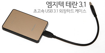 USB 3.1 외장하드 엠지텍 테란 3.1 Coms Type-C 케이블