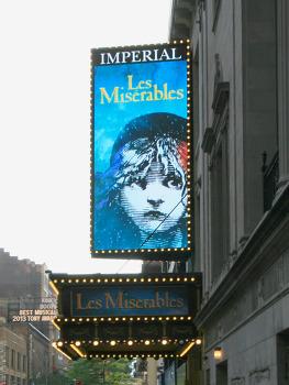 뮤지컬 레미제라블(Les Miserables)을 뉴욕 브로드웨이 임페리얼 극장(Imperial Theatre)에서 관람