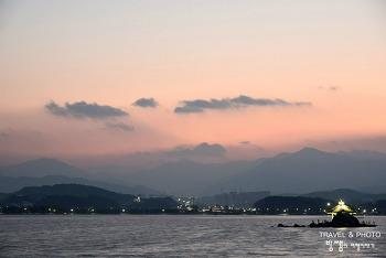 강릉 경포대 일몰, 겨울바다와 해 질 녘 아름다운 구름