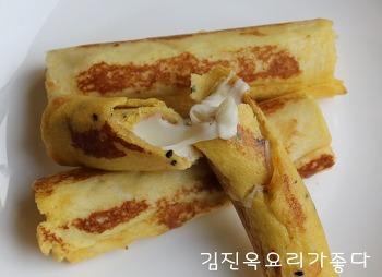 간단한 아이들 간식~ 튀기지 않은 식빵치즈스틱 *^^*