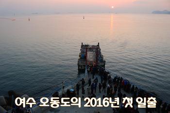 오동도에서 2016 첫 해돋이 보고왔어요![여수일출]