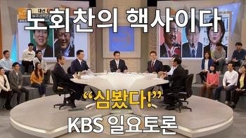 """노회찬의 핵사이다 """"심봤다!"""" - KBS 일요토론"""
