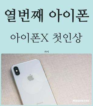 열번째 아이폰 후기, 아이폰X 첫인상은?