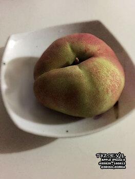 17년 8월 - 중국 - 홍콩 - 납작 복숭아 ( 도넛 복숭아 ) 구입하기