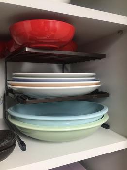 주방그릇정리 방법 한샘 그릇선반! 살림노하우 나가요~
