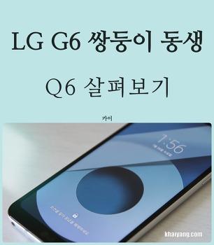 LG G6 꼭 닮은 동생? 중저가 스마트폰 LG Q6 후기