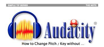 샘플이나 MR 의 Pitch / Key 쉽게 바꾸기 with Audacity ( 심플 가이드 강좌 ) - 39번째 강좌