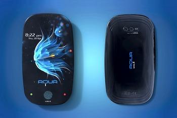 깔끔한 디자인의 핸드폰 아쿠아