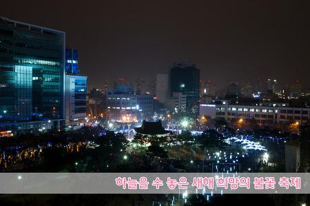 하늘을 수 놓은 새해 희망의 불꽃 축제