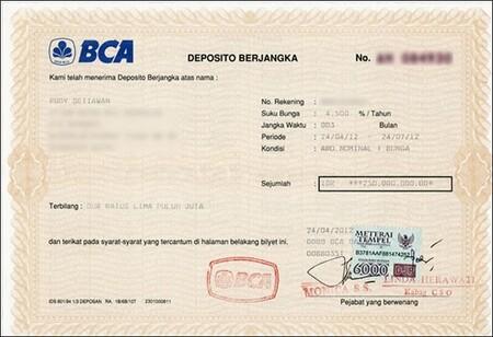 인도네시아에서는 3개월만에 연이자 6%의 수익을 벌 수 있다.