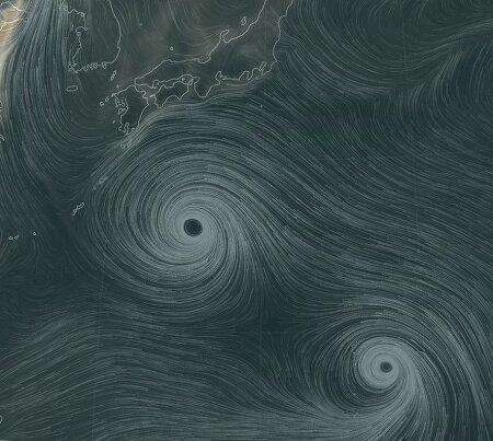 태풍 솔릭 일본기상청 23일 예상과 20호 시마론 지금 위치