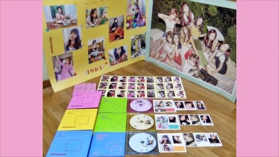 [17.11.11] UNBOXING TWICE(트와이스) 1st Regular Album(첫 정규앨범) - Twistagram(트와이스타그램) (A,B,C Bright(유광) Ver.) - by 여금